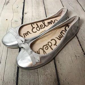 NEE Sam Edelman Milly metallic ballet flats sz 8